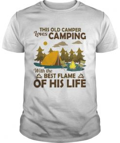 This old camper loves camping with the best flame of his life  Unisex