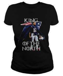 Tom Brady New England Patriots 12 King of the North  Classic Ladies