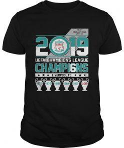 UEFA Champions League 2019 Champio6ns Liverpool FC  Unisex