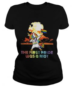 Unicorn Dabbing the first pride was a Riot LGBT born this way  Classic Ladies