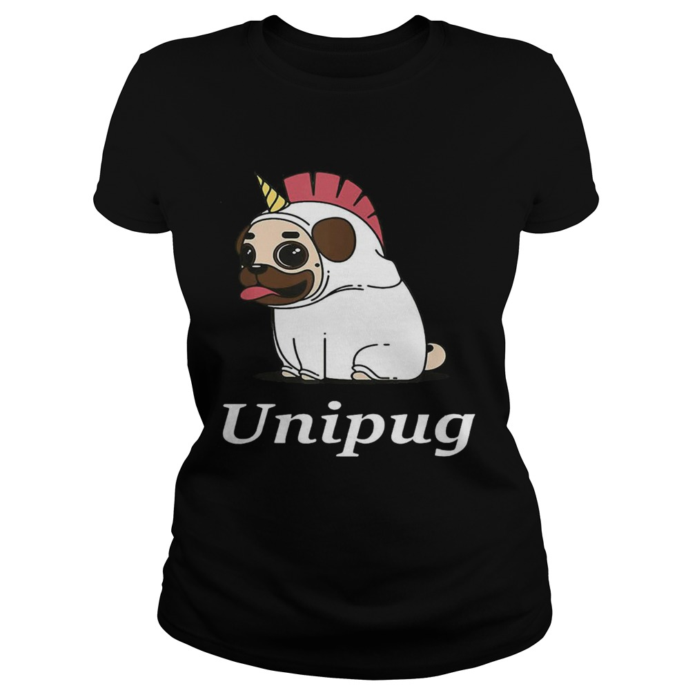 Unipug Unicorn Pug Dog Classic Ladies