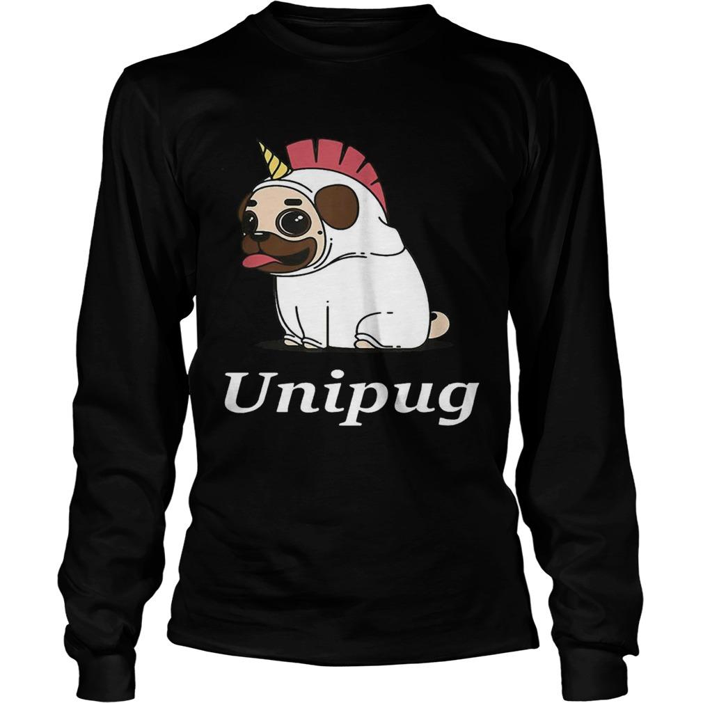 Unipug Unicorn Pug Dog LongSleeve