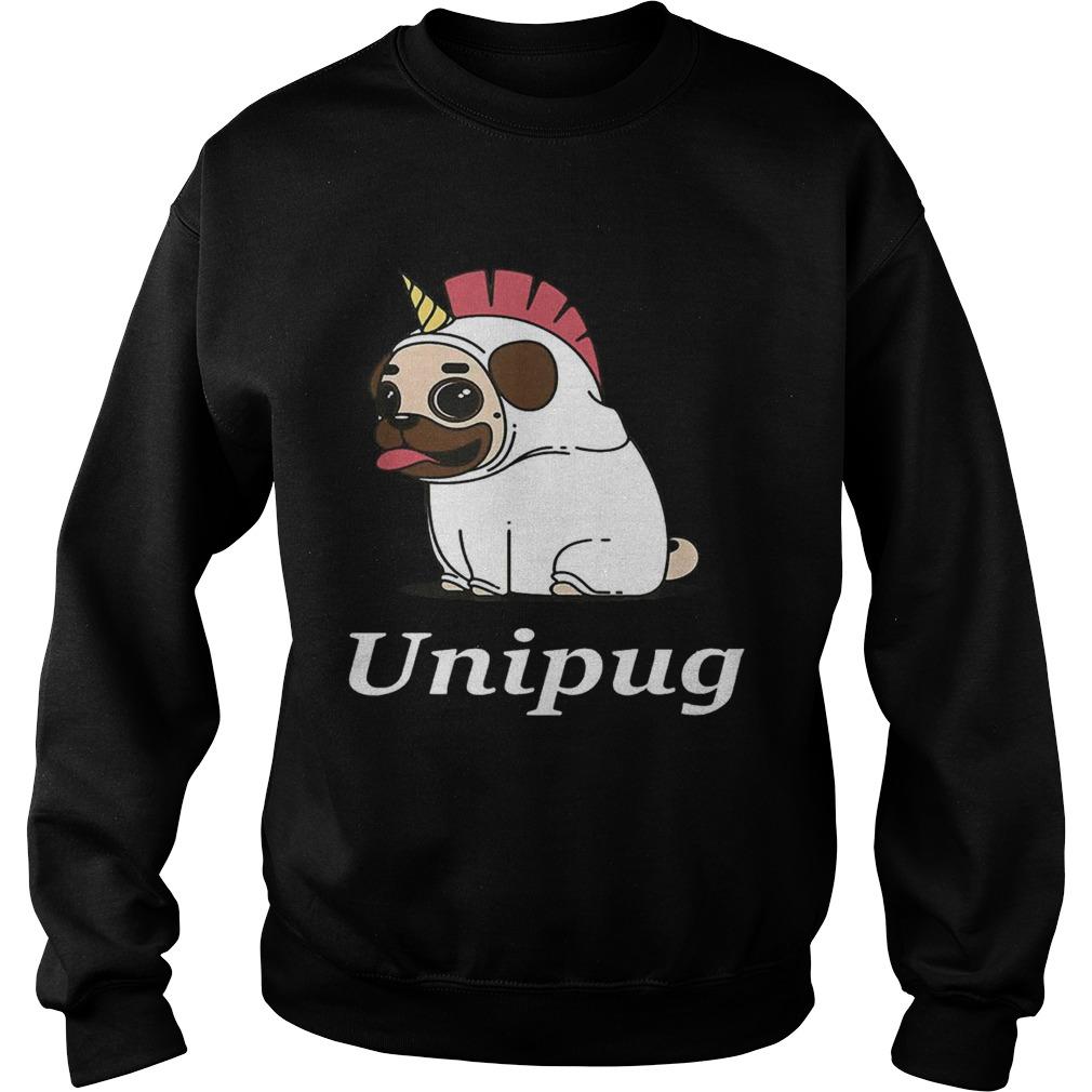 Unipug Unicorn Pug Dog Sweatshirt
