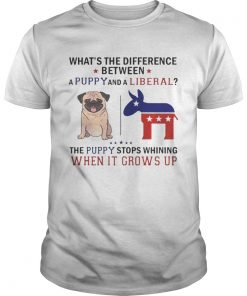 Whats The Difference Between A Puppy And A Liberal Funny T Unisex