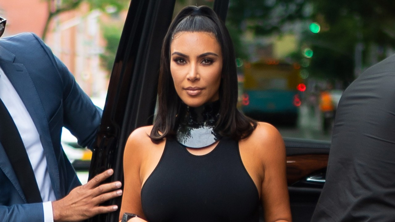 Kim Kardashian West Steps Out in the Unlikeliest Summer Pant