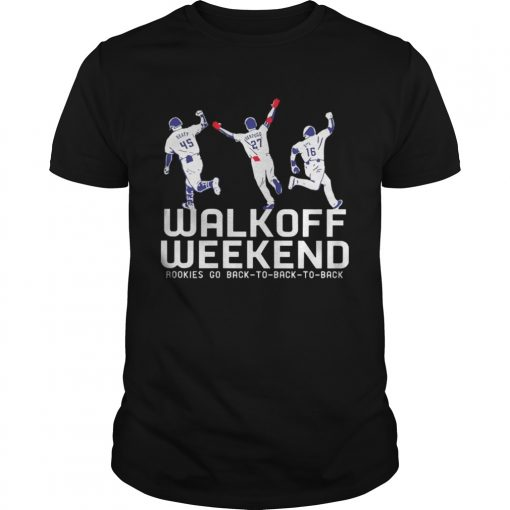 Guys Walk Off Weekend Rookies Go Back To Back To Back Shirt