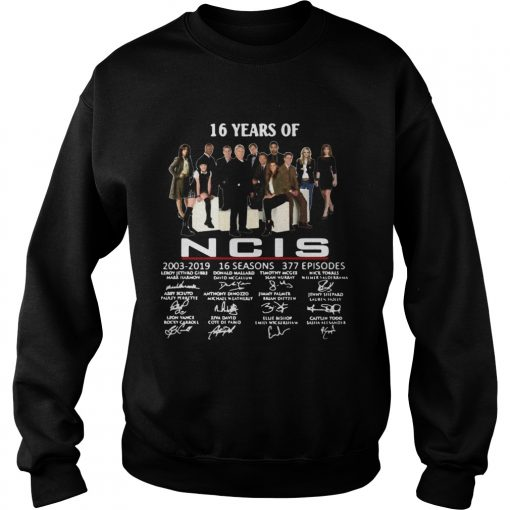 16 years of NCIS 20032019 signatures  Sweatshirt