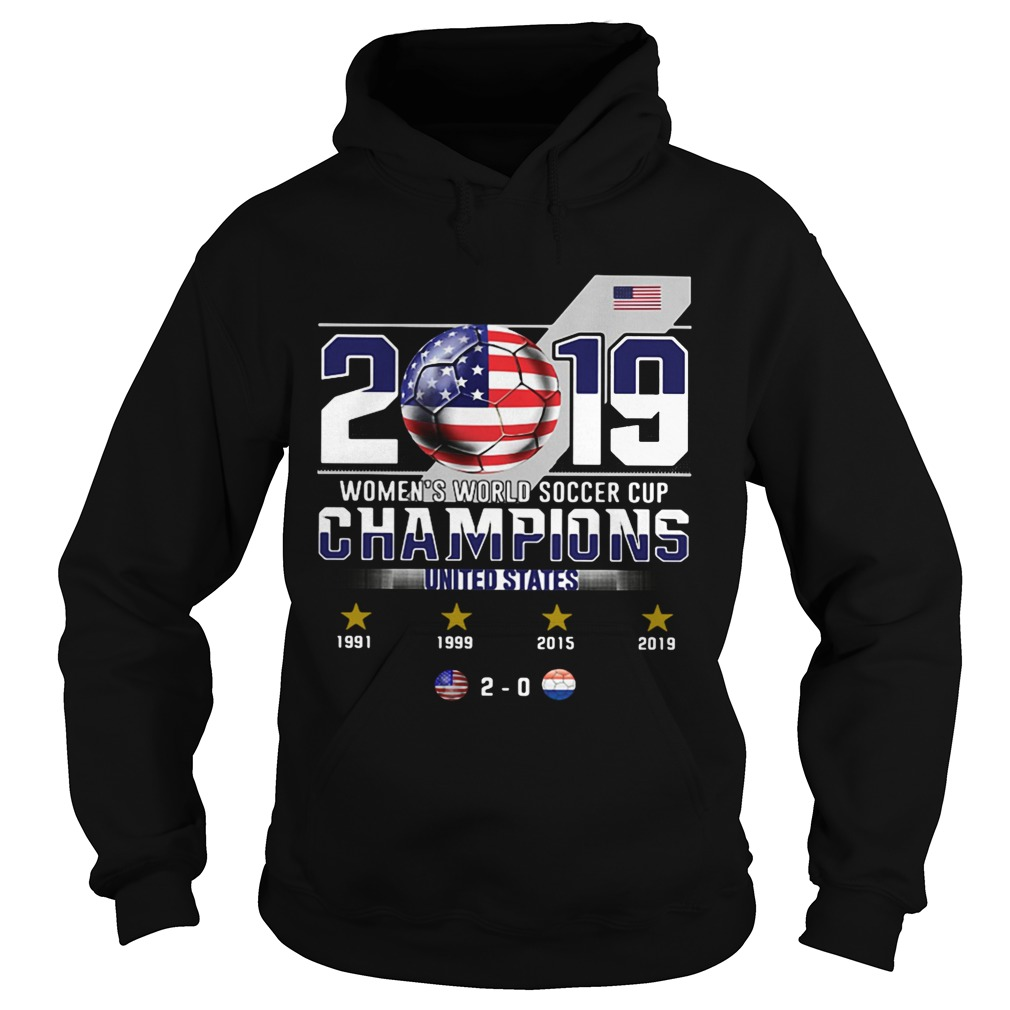 2019 Womens World Soccer Cup Champions United States Hoodie