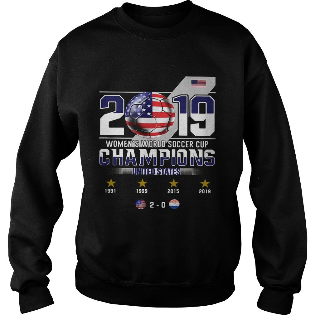 2019 Womens World Soccer Cup Champions United States Sweatshirt