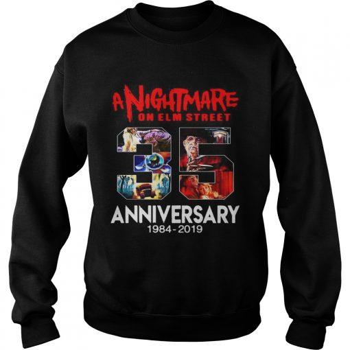 A nightmare on elm street 35th anniversary 1984 2019  Sweatshirt
