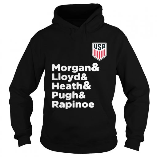 Alex Morgan Julie Ertz Tobin Heath Megan Rapinoe Mallory Pugh Hoodie