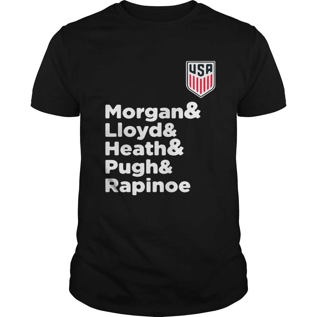 Alex Morgan Julie Ertz Tobin Heath Megan Rapinoe Mallory Pugh Unisex