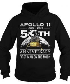 Apollo 11 1969 2019 50th anniversary first man on the moon  Hoodie