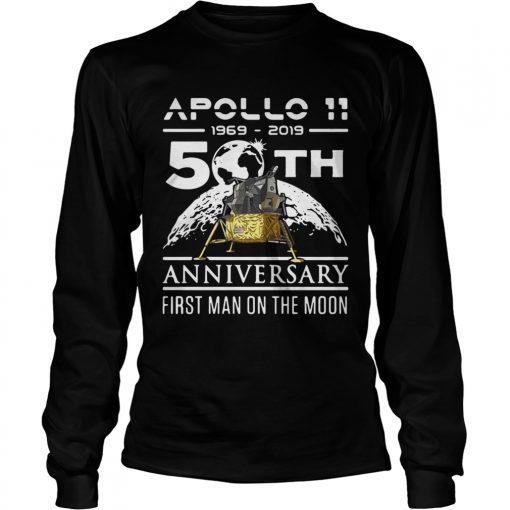 Apollo 11 1969 2019 50th anniversary first man on the moon  LongSleeve