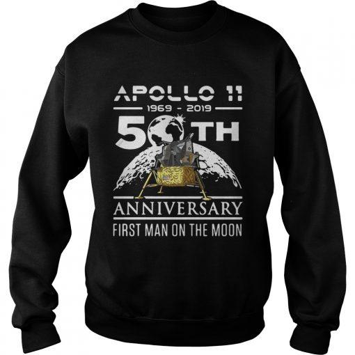 Apollo 11 1969 2019 50th anniversary first man on the moon  Sweatshirt