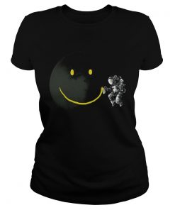 Awesome Make a Smile Graphic Astronaut Make The Moon A Smile  Classic Ladies