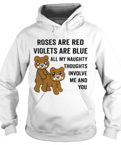 Bear roses are red violets are blue all my naughty thoughts involve Hoodie