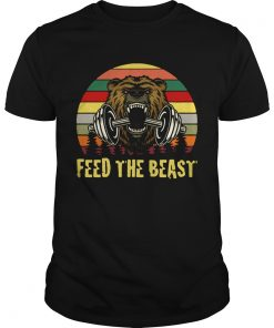 Bear weightlifting Feed The Beast retro  Unisex