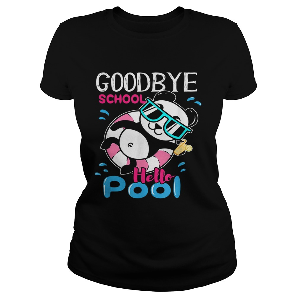 Bye School Hello Pool Cute And Kawaii Panda Art Classic Ladies
