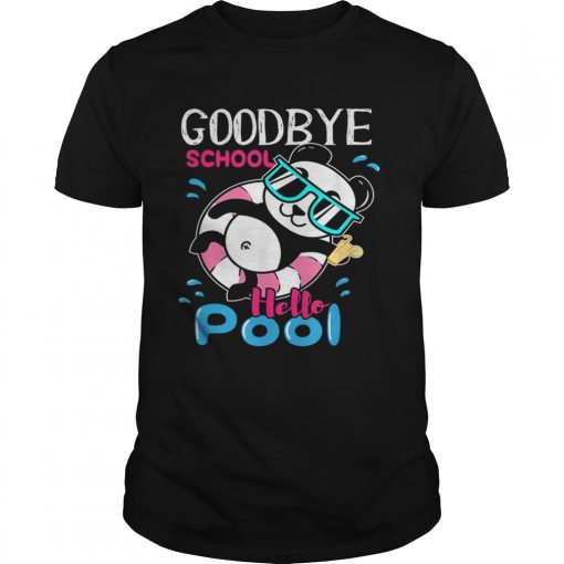 Bye School Hello Pool Cute And Kawaii Panda Art  Unisex