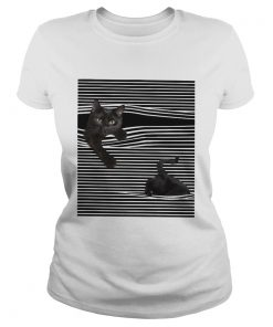 Cats Love In Striped  Classic Ladies