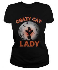 Crazy cat lady moon Halloween  Classic Ladies