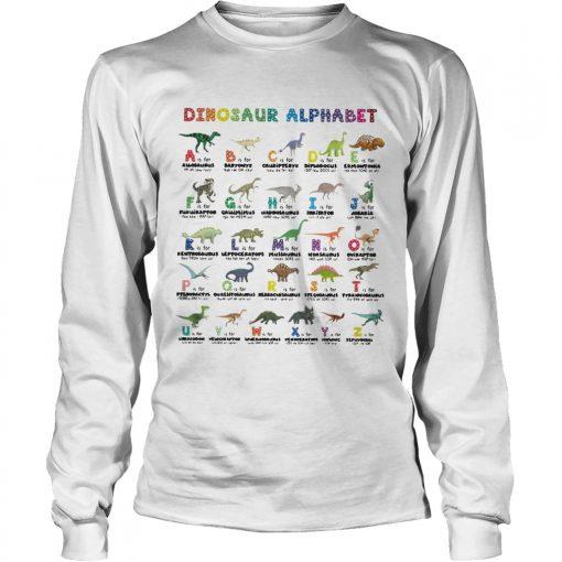 Dinosaur alphabet  LongSleeve