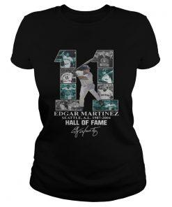 Edgar Martinez 11 Seattle Hall Of Fame signature  Classic Ladies