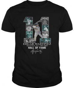 Edgar Martinez 11 Seattle Hall Of Fame signature  Unisex