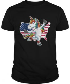 Figure Skating Unicorn American flag  Unisex