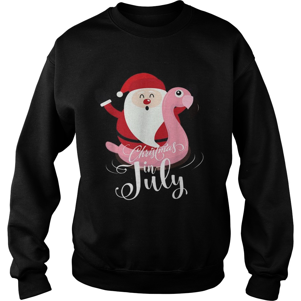Flamingo Christmas In July Party Xmas Partys Sweatshirt