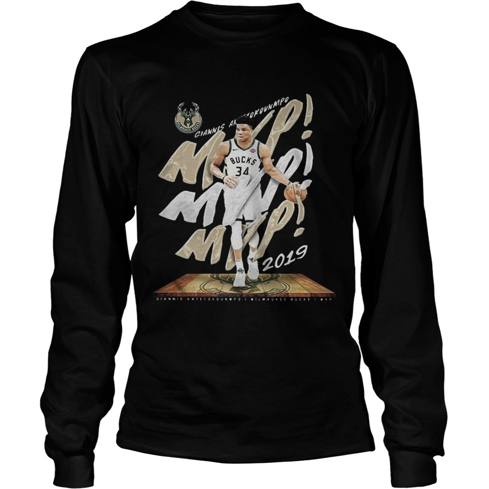 Giannis Antetokounmpo Mvp Milwaukee Bucks LongSleeve