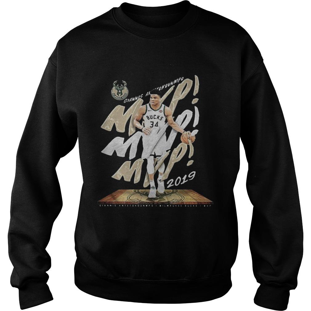 Giannis Antetokounmpo Mvp Milwaukee Bucks Sweatshirt