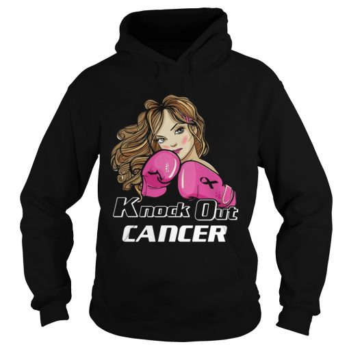 Girl Knock Out Cancer Shirt Hoodie