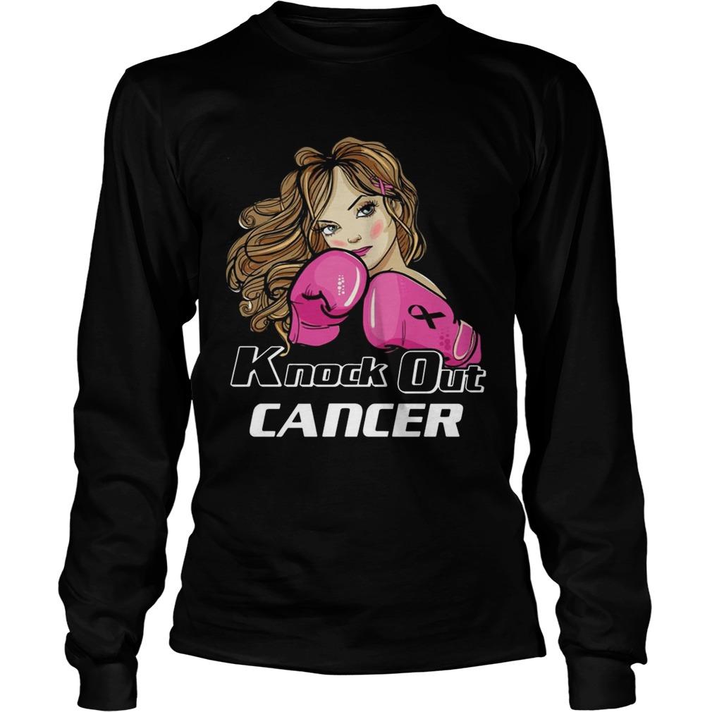 Girl Knock Out Cancer Shirt LongSleeve