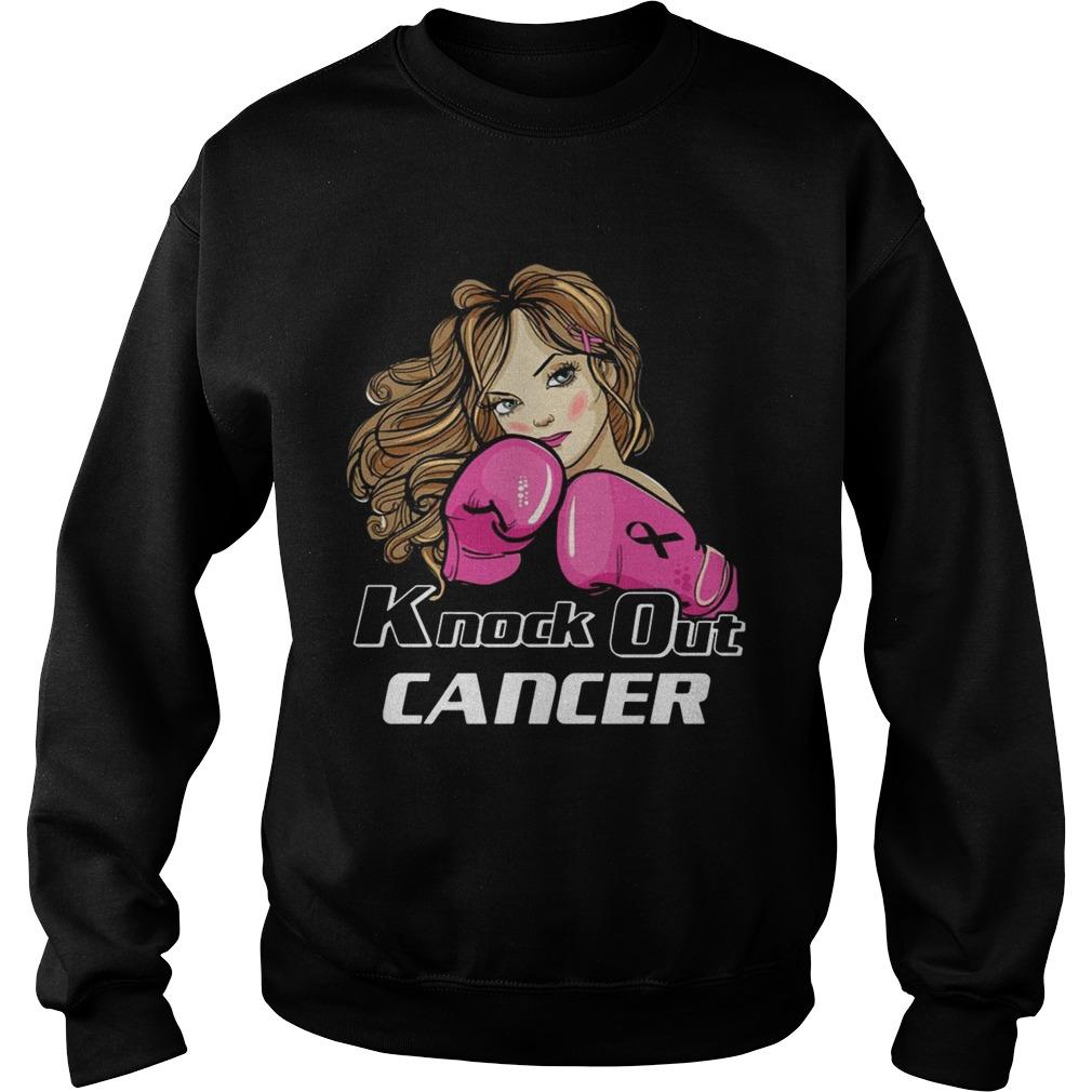 Girl Knock Out Cancer Shirt Sweatshirt