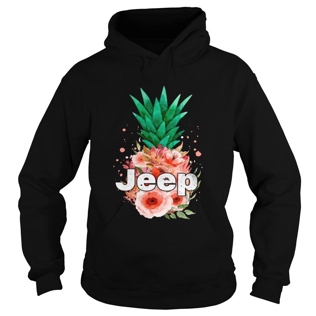 Jeep Pineapple flower Hoodie