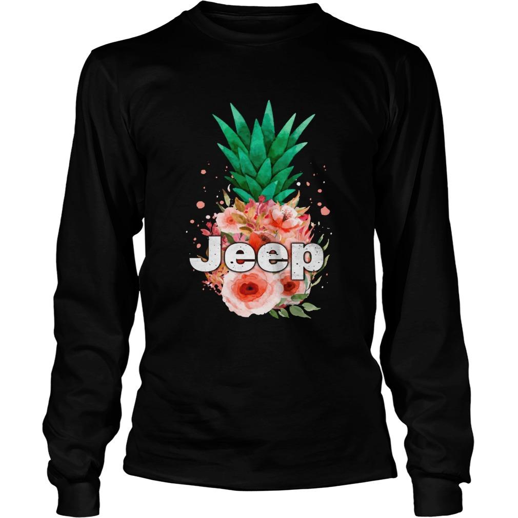 Jeep Pineapple flower LongSleeve
