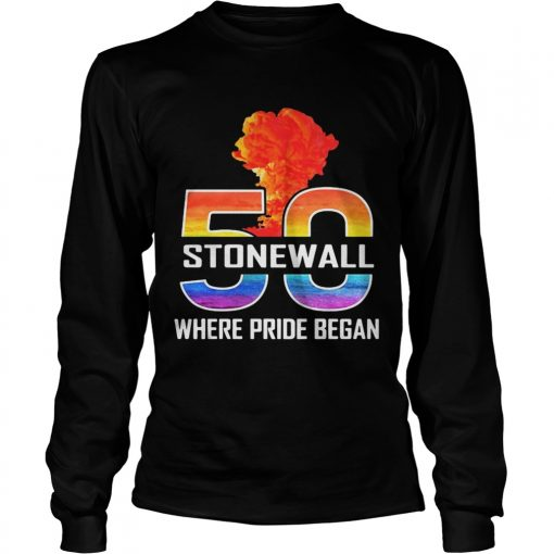 LGBT 50 Stone Wall where pride began  LongSleeve
