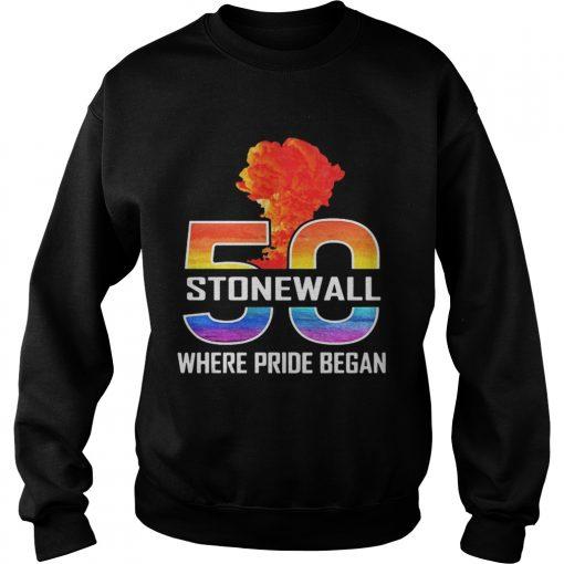 LGBT 50 Stone Wall where pride began  Sweatshirt