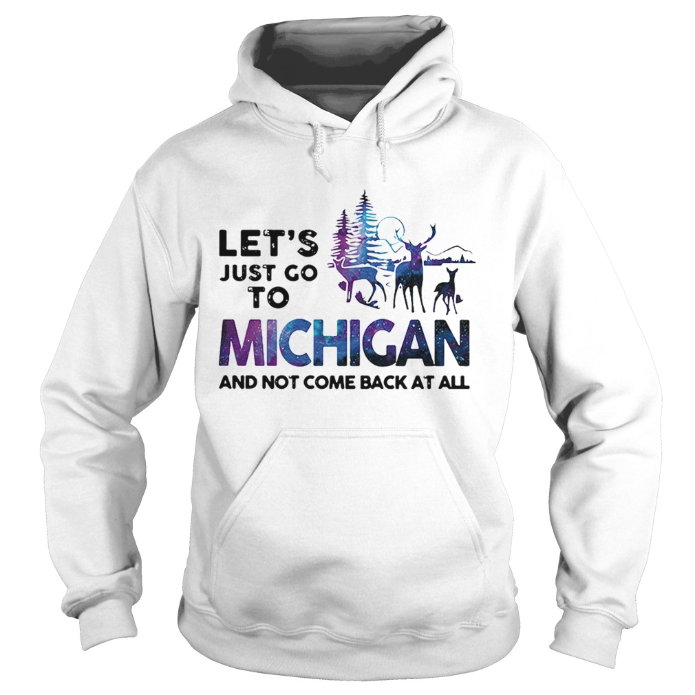 Lets just go to Michigan and not come back at all Hoodie
