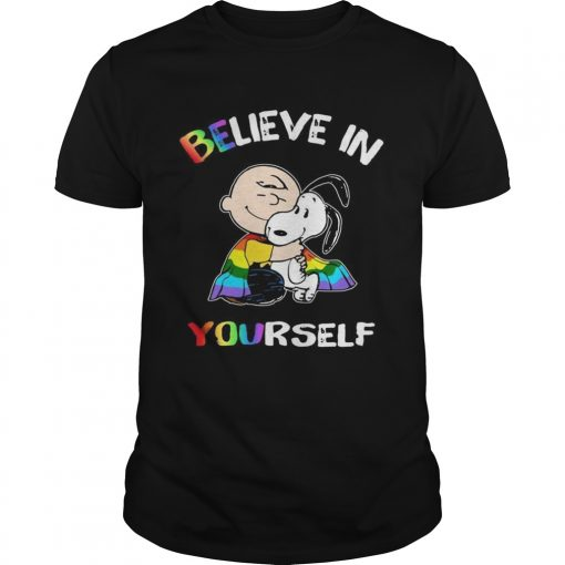 Lgbt Snoopy and Charlie Brown believe in yourself  Unisex