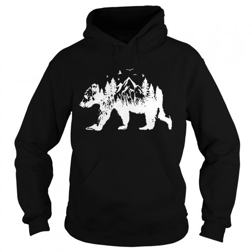 Mountains Bear  Hoodie