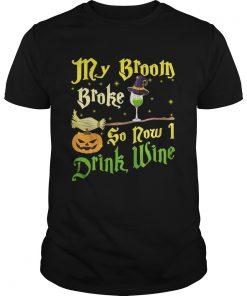 Official My broom broke so now I drink wine Halloween  Unisex