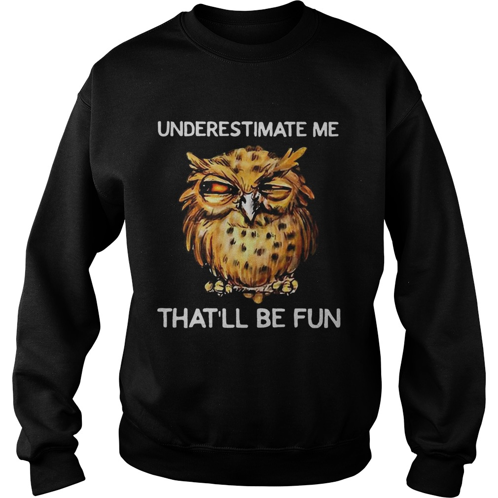 Owl Underestimate me thatll be fun Sweatshirt