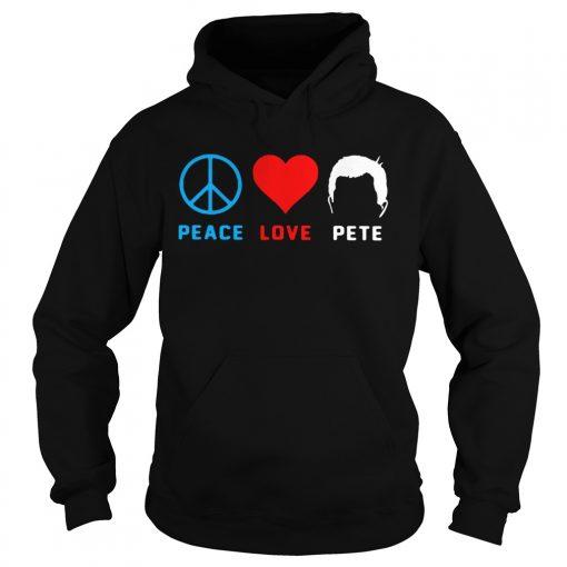 Peace love pete  Hoodie
