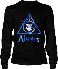 Police Badge Deathly Hallows Always Harry Potter  LongSleeve