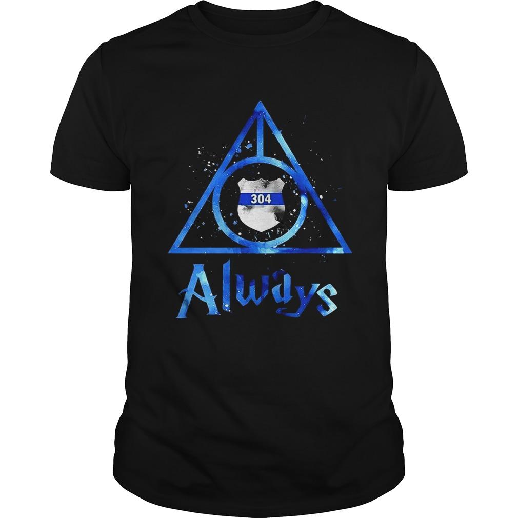 Police Badge Deathly Hallows Always Harry Potter Unisex