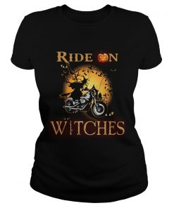 Ride on witches Motorcycle Halloween  Classic Ladies