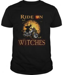 Ride on witches Motorcycle Halloween  Unisex